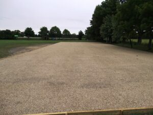 Car park resurfaced
